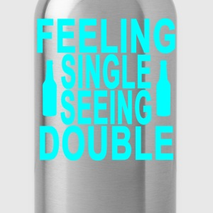 feeling_single_seeing_double_ - Water Bottle