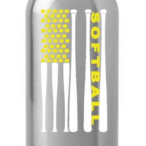 Softball Flag Shirt - Water Bottle