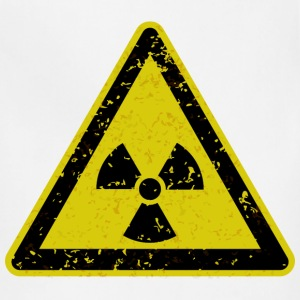 Grungy radiation warning sign - Adjustable Apron