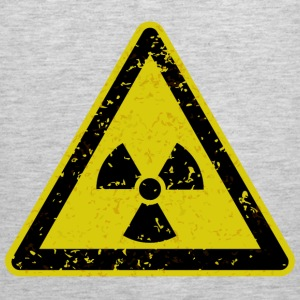 Grungy radiation warning sign - Men's Premium Tank