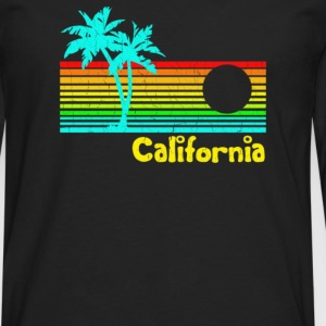 1980s Vintage Retro Calif - Men's Premium Long Sleeve T-Shirt
