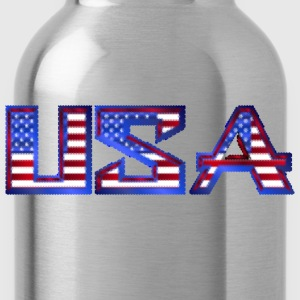 USA Typography Mark II Cubes Mosaic - Water Bottle