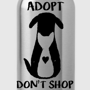 Adopt don't shop Hoodies - Water Bottle