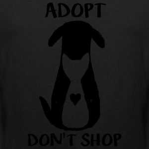Adopt don't shop T-Shirts - Men's Premium Tank