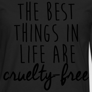 The best things in life are cruelty-free T-Shirts - Men's Premium Long Sleeve T-Shirt