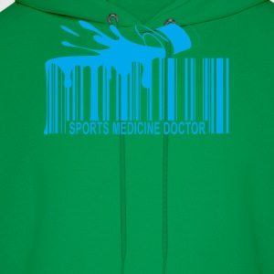 sports_medicine_doctor_barcode_ - Men's Hoodie