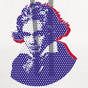 Beethoven in Dots blue T-Shirts - Contrast Hoodie