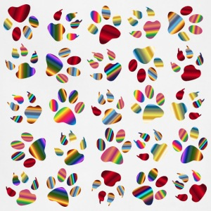 Colorful Paw Prints Pattern Background Reinvigora - Adjustable Apron