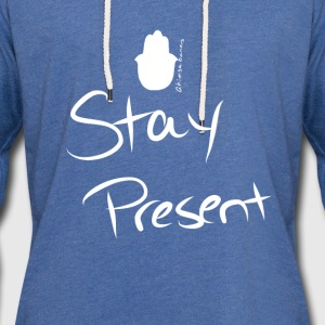 Stay Present Scoop Neck Sweatshirt - Unisex Lightweight Terry Hoodie