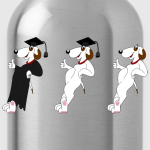 Graduating Anthropomorphic Dogs - Water Bottle