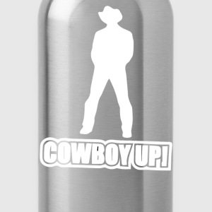 cowboy up - Water Bottle