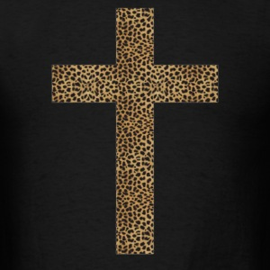 cross leopard - Men's T-Shirt