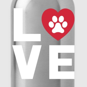 Animal Lover Dog Paw Print Love Dogs My Best Friend T-Shirts - Water Bottle