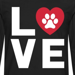 Animal Lover Dog Paw Print Love Dogs My Best Friend T-Shirts - Men's Premium Long Sleeve T-Shirt