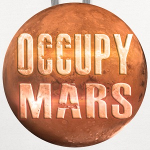 Occupy Mars White T-Shirt ~ by Nic [NEW] - Contrast Hoodie