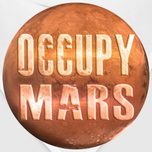 Occupy Mars White T-Shirt ~ by Nic [NEW] - Bandana