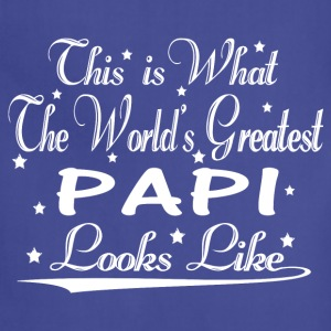 World's Greatest Papi... T-Shirts - Adjustable Apron
