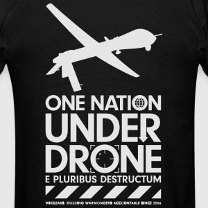 One Nation Under Drone - Support WikiLeaks Hoodies - Men's T-Shirt