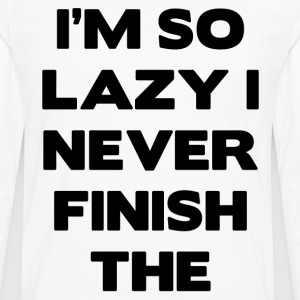 lazy.png T-Shirts - Men's Premium Long Sleeve T-Shirt
