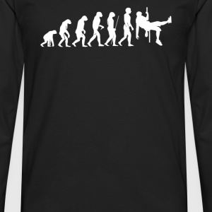 Evolution  Klettern Climbing Sport Hobby - Men's Premium Long Sleeve T-Shirt