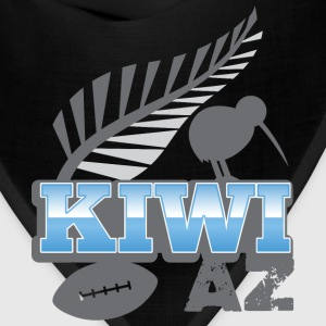 Kiwi AS with silver fern bird and rugby ball Baby & Toddler Shirts - Bandana