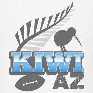 Kiwi AS with silver fern bird and rugby ball Phone & Tablet Cases - Men's T-Shirt