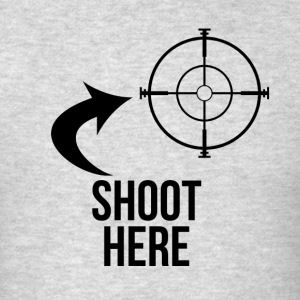 SHOOT HERE HEART SNIPER TARGET RIFLE SCOPE Sportswear - Men's T-Shirt