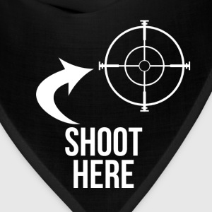 SHOOT HERE HEART SNIPER TARGET RIFLE SCOPE - Bandana