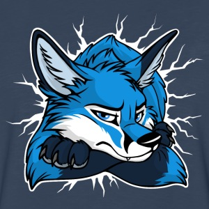 STUCK Blue Fox (front/back) - Men's Premium Long Sleeve T-Shirt