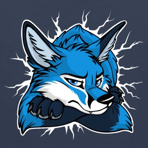 STUCK Blue Fox (front/back) - Men's Premium Tank