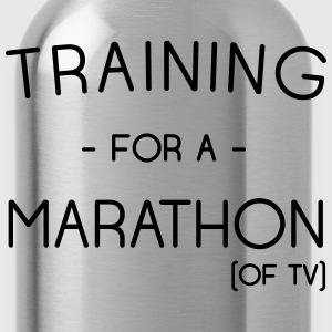 Training for a marathon of TV T-Shirts - Water Bottle