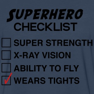 Superhero Checklist T-Shirts - Men's Premium Long Sleeve T-Shirt