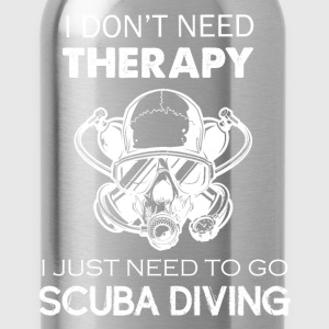 Scuba Diving Therapy Tee - Water Bottle