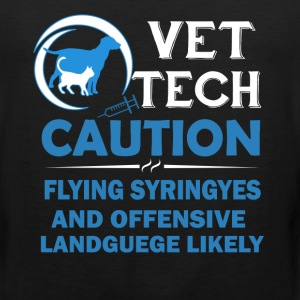 Vet Tech Caution Shirts - Men's Premium Tank