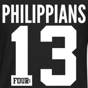 Philippians 4:13 Christian Bible Verse Quote T-Shirts - Men's Premium Long Sleeve T-Shirt