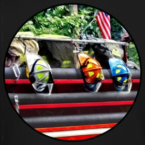 Three Fire Helmets on Fire Truck Long Sleeve Shirts - Crewneck Sweatshirt
