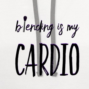 BLENDING IS MY CARDIO T-Shirts - Contrast Hoodie