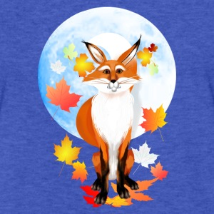 Fall Fox and Were-Wolf Moon - Fitted Cotton/Poly T-Shirt by Next Level