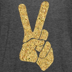 Peace Sign - Gold Hippy T-Shirts - Women's Flowy Tank Top by Bella