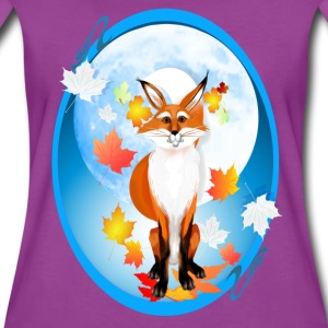 Fall Fox and Wolf Moon-2 - Women's Premium T-Shirt