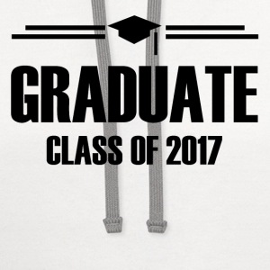 GRADUATE CLASS OF 2017 1.png T-Shirts - Contrast Hoodie