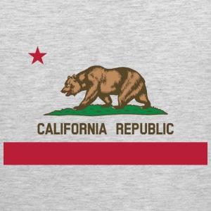 California Flag Bear - Men's Premium Tank