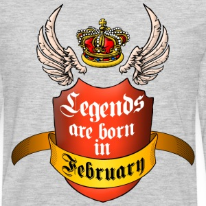 Legends February T-Shirts - Men's Premium Long Sleeve T-Shirt