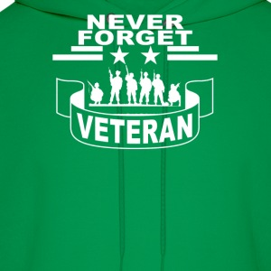 never_forget_veteran_tshirt - Men's Hoodie