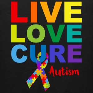 Live Love Cure Autism T-Shirts - Men's Premium Tank