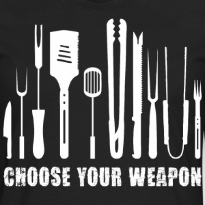 Choose Your Weapon Chef T-Shirts - Men's Premium Long Sleeve T-Shirt
