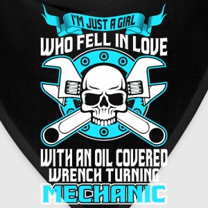 Girl Fell In Love With Oil Covered Wrench Mechanic T-Shirts - Bandana