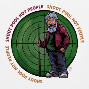 Shoot Pool Not People Buttons - Men's Premium Tank