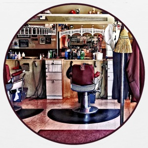 Barbershop With Coat Rack Mugs & Drinkware - Men's Premium Tank