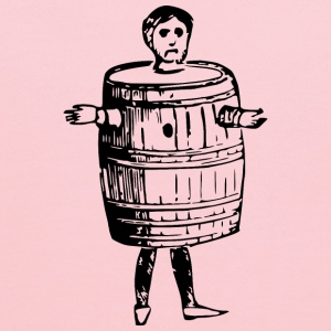Man in barrel - Kids' Hoodie